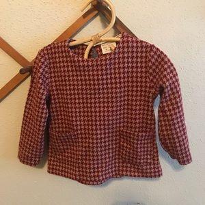 Zara houndstooth sweatshirt for toddler girl.